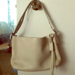 Coach Pebble Grain Leather Handbag